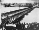 Picture relating to Brisbane - titled 'Victoria Bridge, Brisbane, photographed during the 1893 flood'