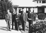Picture relating to Canberra - titled 'Second Conference of 65th District of Rotary. Five of the delegates outside Canberra Hotel.'