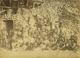 Picture relating to Charters Towers - titled 'Large group of miners outside a mine at Charters Towers, ca. 1890'