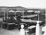 Picture relating to Parliament House - titled 'Royal Visit, May 1927 - Front of Old Parliament House during rehearsal.'