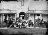Picture relating to Brisbane - titled 'Dickson family, Toorak House, Brisbane 1872'