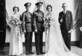 Picture relating to Queensland - titled 'Beryl Ross and Fred Milford on their wedding day, ca. 1939-1945'