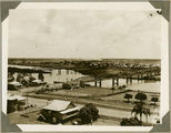 Picture relating to Bundaberg - titled 'Overlooking the Burnett River and bridges, Bundaberg, ca. 1930'