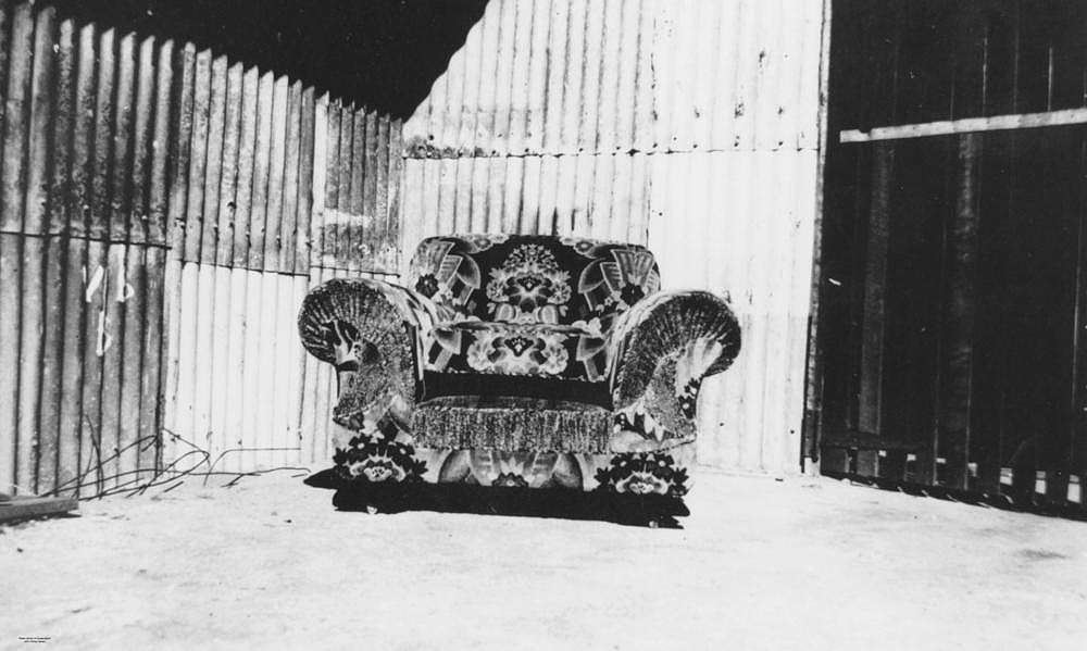 Picture of / about 'Fortitude Valley' Queensland - Large arm chair manufactured by F. H. Byrne, Upholsterers, Brisbane