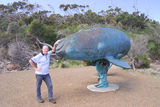 The Whale sculpture Thisis just after the end of the road and records details about when whaling used to be the major industry in this region.