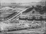 Picture of / about 'Parliament House' the Australian Capital Territory - Aerial view over Old Parliament House and West Block from the west