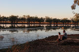 Picture of / about 'Yarralin School' the Northern Territory - Billabong at Sunset with teachers from YarKGS