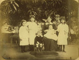Picture relating to Mackay - titled 'Probably Georgiana Jane Brandon with seven of her fourteen children, ca. 1882'