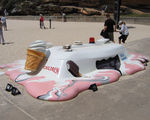 Picture relating to Bondi Beach - titled 'A really Soft Serve on Tamarama Beach '
