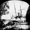 Picture relating to Brisbane - titled 'Paluma (ship) aground in the Botanic Gardens, Brisbane, 1893'