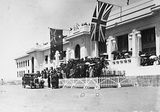 Picture relating to Parliament House - titled 'Armistice Day - Spectators on the steps at Old Parliament House'