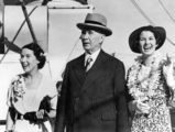 Picture relating to Queensland - titled 'Thomas Charles (T.C.) Beirne with his nieces Doreen and Gwenneth Hooper, 1936'
