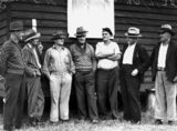 Picture relating to Queensland - titled 'Somerset Dam strikers in 1938'