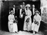 Picture relating to Queensland - titled 'Wedding of Bill Greaves and Polly Jones, ca. 1912'