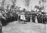 Picture of / about 'Cordalba' Queensland - Hon. W. T. Paget turning the first sod at Cordalba for the Cordalba to Dallarnil railway extension, 1910