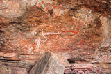 Kakadu National Park Aboriginal Rock Art. Noorlangie Rock.