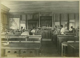 Picture relating to Gatton - titled 'Chemistry class at Queensland Agricultural College, Gatton, ca. 1899'