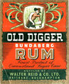 Picture relating to Brisbane - titled 'Old Digger Bundaberg Rum label'