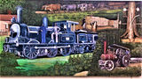 Picture relating to Boolarra - titled 'Boolarra Railway Locomotive mural'