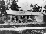 Picture relating to Stanthorpe - titled 'Miner's Refuge Hotel at Broadwater near Stanthorpe, ca. 1872'