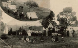 Picture relating to Redcliffe - titled 'Campers at Sutton's Beach, Redcliffe, ca. 1906'