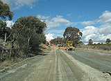 Picture relating to Captains Flat Road - titled 'Roadworks on Captains Flat Road'