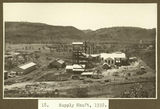 Picture relating to Mount Isa - titled 'Supply shaft and mine buildings at Mt. Isa, 1932'