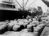 Picture of / about 'Brisbane' Queensland - Loading bales of wool at the Nixon Smith Wharves, Brisbane, 1924