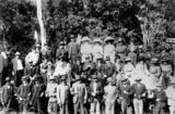 Picture relating to Canungra - titled 'Canungra Railway Project including a visit from officials, ca. 1911'