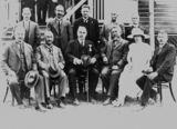 Picture relating to Stanthorpe - titled 'Group photograph of the town councillors at the opening of the new Stanthorpe Shire Council Chambers, 1922'