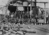 Picture relating to Biggenden - titled 'Miners from the Bismuth Mine in Biggenden, ca. 1910'