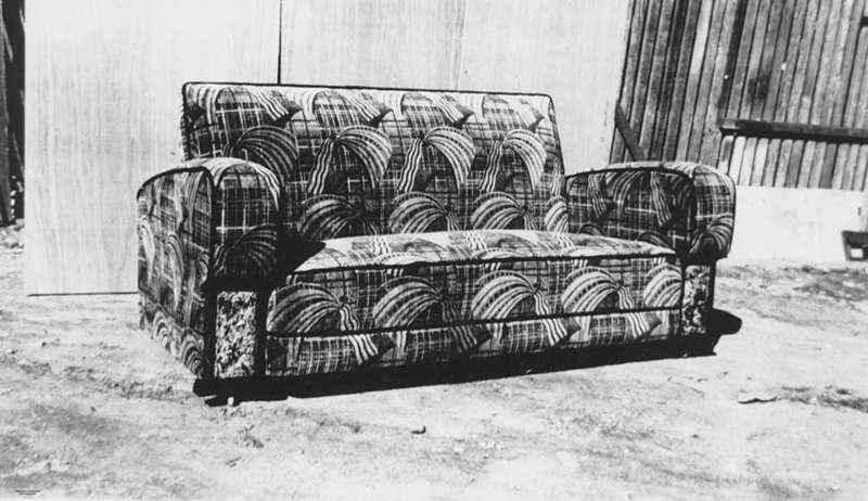 Picture of / about 'Fortitude Valley' Queensland - Settee manufactured by F. H. Byrne, Upholsterers, Brisbane