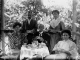 Picture relating to Queensland - titled 'Tea on the verandah, 1900-1910'