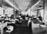 Picture relating to Brisbane - titled 'Binding area at the Government Printing Office, Brisbane, 1921'