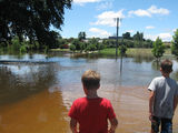 Picture of / about 'Malmsbury' Victoria - Malmsbury  in flood 14-01-11 ~1pm (2)