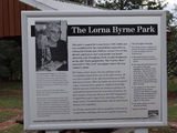 Picture relating to Currabubula - titled 'Laura Byrne plaque in Laura Byrne Park'