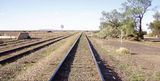 Picture relating to Parachilna - titled 'Railway through Parachilna looking towards Leigh Creek'