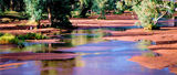 Picture relating to Todd River - titled 'The Todd River With Rising Water'
