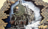 Picture relating to Broken Hill - titled 'Broken Hill steam train mural'