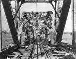 Picture relating to Mary River - titled 'Construction workers posing on the second Antigua Bridge, 1916'