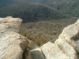 Picture relating to Booroomba Rocks - titled 'Looking over the edge'