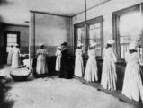 Picture relating to Brisbane - titled 'Prisoners using the laundry facilities at the new female division of Boggo Road Gaol, Brisbane, 1903'