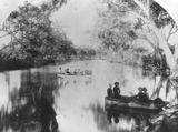 Picture relating to Bollon - titled 'Pleasure boats on Wallam Creek, Bollon, ca. 1895'
