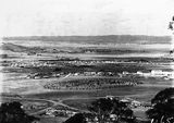 Picture relating to Kingston - titled 'View from Red Hill over Manuka and Kingston toward Duntroon, Collins Park in foreground.'