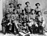 Picture relating to Rockhampton - titled 'Cadets from the Rockhampton Volunteer Corps, part of the Queensland Defence Force. ca. 1890'