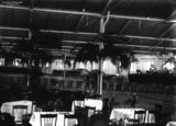Picture of / about 'Brisbane' Queensland - Tables and chairs set up in the woolstore at New Farm, Brisbane, for the Vice-regal ball held in honour of the visiting Duke and Duchess of York, 1927