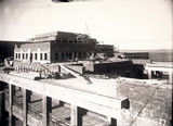 Picture relating to Parliament House - titled 'Old Parliament House under construction, from the roof.'