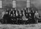 Picture relating to Kingaroy - titled 'Congregation, minister and visiting clerymen at the Kingaroy Methodist Church, ca. 1910'